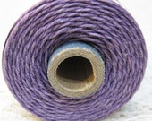 Lavender Purple Waxed Linen Cord 4 ply 10 yards for Macrame Kumihimo Knotting