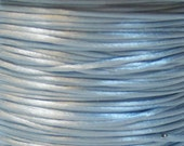 Light Blue Satin Rattail Cord 1mm 6 yards for Macrame Kumihimo Knotting