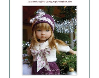 "63. English and  French INSTANT DOWNLOAD PDF knitting Pattern 13"" dolls Little Darling Effner"