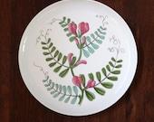 Flora Vicker. Vintage Rörstrand of Sweden mid century modern salad plate.