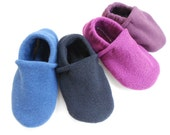 Custom Thick Fleece Slippers with Black Grip Tight Soles For Adults and Big Kids