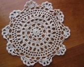 7 Inch Round Ecru Crochet Doilies  (10)