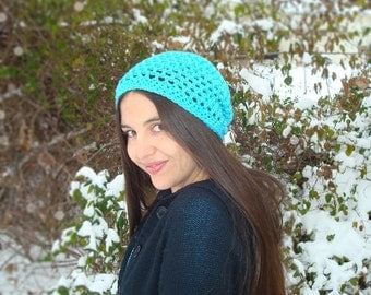 The Slightly Slouchy Beanie- Soft, Stylish Crocheted Cotton Hat