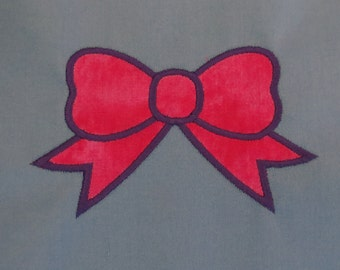 Bow Applique Embroidery Designs - 4 sizes - CUSTOM  REQUEST WELCOME