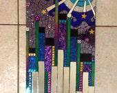 Glitter Glass Mosaic Mirror City Scape