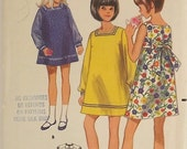 Vintage 60's Sewing Pattern, Girl's Dress, Size 7, Kabuki-Sash