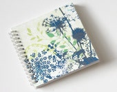 Small Coupon Organizer with 14 Pockets - Pre Printed Labels Included - Blue Wild Flowers