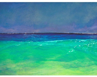 Ocean painting on canvas