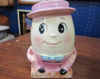Vintage Ruebans pink humpty dumpty bank/planter.