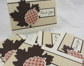 Falling Leaves - set of 8 thank you notes