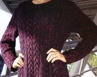 A beautiful handmade knitted winter dress