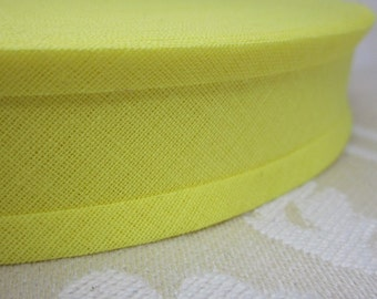 9m Bright Yellow Cotton Bias Binding