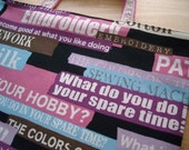 Sewing Themed Text Print Reversible Magazine Tote Bag