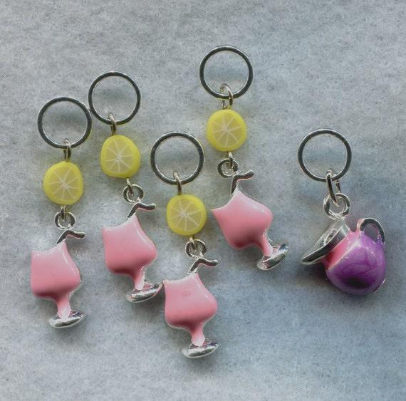 Knitting Stitch Markers Nz : Pink Lemonade Knitting Stitch Markers Lemon Citrus Slice Set of 5/SM113 from ...