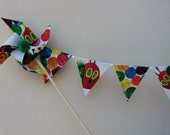 Very Hungry Caterpillar  Pinwheel Cake Topper -  Decoration , Birthday Party,  Celebration