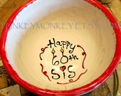 Custom pottery personalized bowl you design popcorn cereal more teens adults kids gifts birthday wedding Valentine's day anniversary family