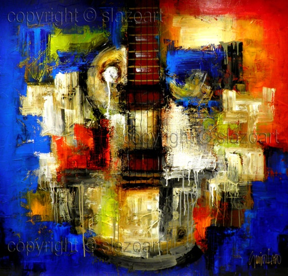 Mixed Media Series - Original Contemporary Painting - Modern Abstract Art by SLAZO - 48x48