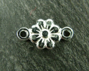 Sterling Silver Flower Connector 12mm (CG5611)