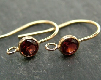 Gold Filled Garnet Ear Wire ~ PAIR (CG6591)
