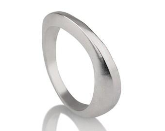 Infinity Wedding Ring, Classic Wedding Ring, Sterling Silver Wedding Band, Unique Sterling Silver Wedding Ring