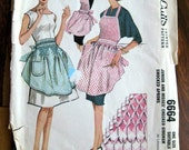 1962 vintage Original McCalls 6664 Gingham smocked apron one size suitable 9-16 apron B only