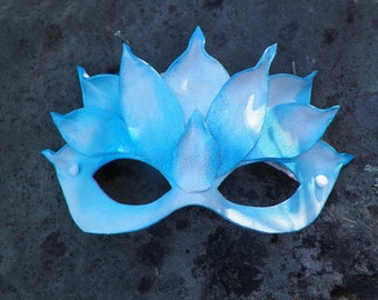 Blue Lotus Leather Mask
