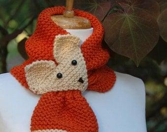 Knit fox scarf Etsy