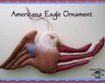 Americana Eagle Folk Art Painted Fabric Ornament or Bowl Filler Instant Download EPattern