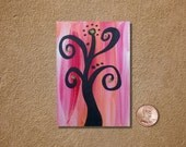 Tree 5 ACEO Original Watercolor Painting