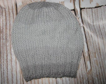 Toddler hat  Hand knit  - size 2 - 5 acrylic blend  striped
