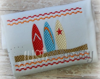 Smocked Surfboards 5x7 Machine Smocked Embroidery Design
