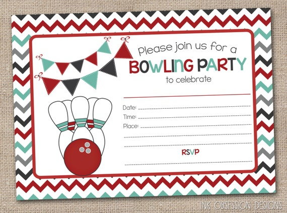 Nifty image with regard to printable bowling party invitations