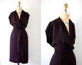 Vintage 70s Anita Kantor Kimono Sleeve Print Dress XL