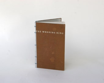 Ready to Ship Vintage Wedding Guest Book: The Wedding RIng