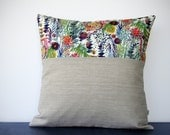 LIMITED EDITION: Abstract Floral Pillow Cover (Multicolor) by JillianReneDecor - Watercolor Flowers - Decorative Home Decor - Spring Summer