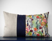 LIMITED EDITION: Abstract Floral Liberty Print Pillow Cover by JillianReneDecor - Watercolor Flowers - Decorative Home Decor - Lumbar Pillow
