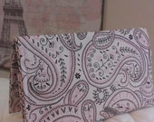 CUSTOM MADE to Order Checkbook Cover or Coupon Organizer Pink Bandana