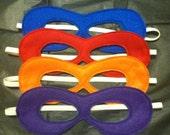 one set of TMNT ninja turtles inspired reusable felt party masks