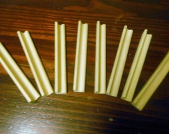 Lot of 8 Wood Scrabble Tray Tile Holders Wooden Tray Tiles Holders Rounded Edge