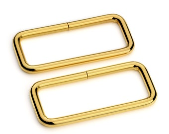 "100pcs - 2"" Metal Square Ring - Gold - (SQUARE RING SRG-133)"