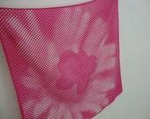 Vera scarf vintage scarf Vera Neumann scarf hot pink scarf square scarf mod vera neckerchief vera designer scarf flower scarf pink flower