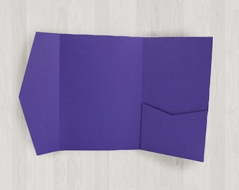 10 Vertical Pocket Enclosures - Purple - DIY Invitations - Invitation Enclosures for Weddings and Other Events
