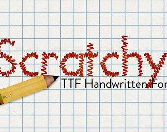 alphabits - scratchy ttf font