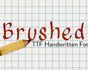 brushed ttf handwritten desktop font - automatic download