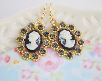 Annabelle 14KT GF. Noir- Earrings