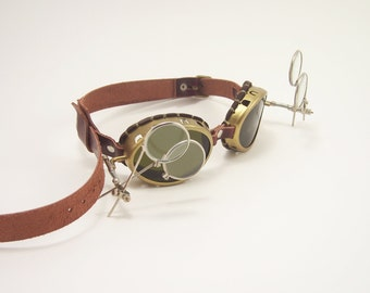 Steampunk Brass Goggles Sunglasses LARP Victorian Cosplay Mad Scientist