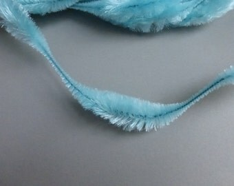 Retro Bump Chenille Icy Blue 3 inch bump 1 yard