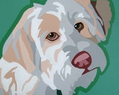 Custom 6x6 POP ART Pet Custom Dog Portrait Painting