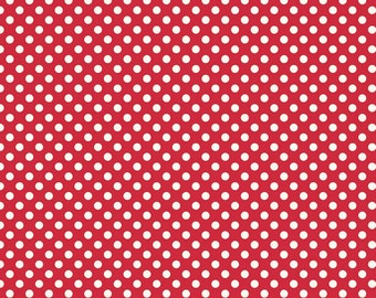 Le Creme Small Red Dots from Riley Blake Fabrics - 1/2 yard