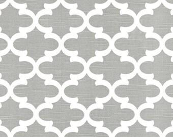Fynn Storm Grey White fabric | Home Dec Cotton fabric | Premier Prints